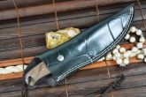 HANDCRAFTED BUSHCRAFT KNIFE ROOT WOOD HANDLE - OUTSTANDING VALUE
