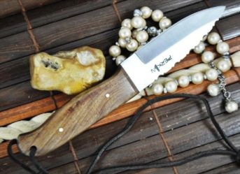 Handcrafted 01 Carbon Steel Blade Bushcraft Knife With Walnut Handle