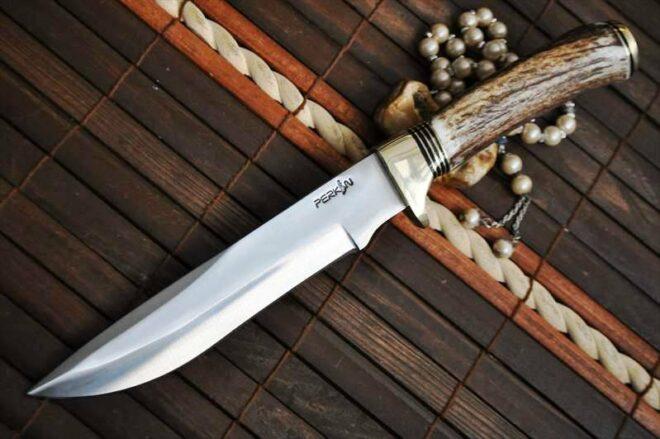 440c Steel Handcrafted Hunting Knife With American Deer Antler Handle