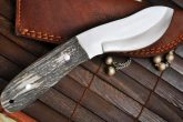 HANDCRAFTED HUNTING / CAMPING KNIFE 440C STEEL NESSMUK STYLE