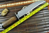 HANDCRAFTED HUNTING KNIFE 01 CARBON STEEL BLADE - BOWIE KNIFE WITH SHEATH
