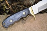 HANDCRAFTED HUNTING KNIFE 440-C STEEL & ROOT WOOD - PERFECT FOR CAMPING & FISHING
