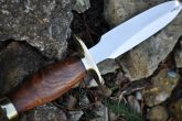 HANDCRAFTED HUNTING KNIFE - 440C STEEL - DOUBLE EDGE-JES