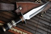 HANDMADE BOWIE KNIFE - 440C STEEL- WORK OF ART
