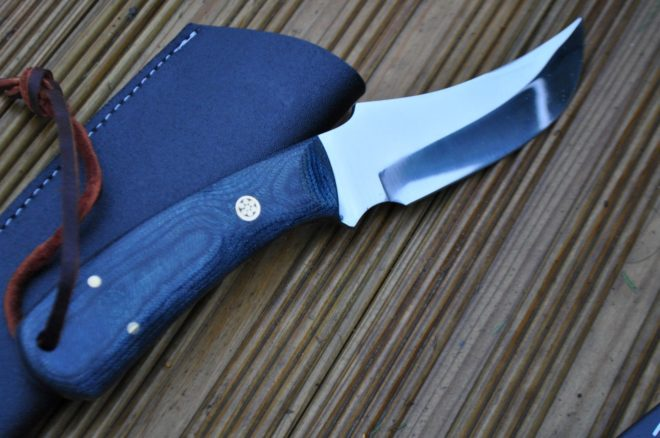 Handmade Bushcraft Knife with 01 Carbon Steel & Stunning Micarta Handle