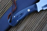 Handmade Bushcraft Knife with 01 Carbon Steel & Stunning Micarta Handle