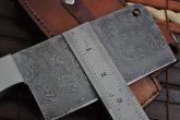 Handmade Chef knife with 2.5 inch wide Damascus steel blade