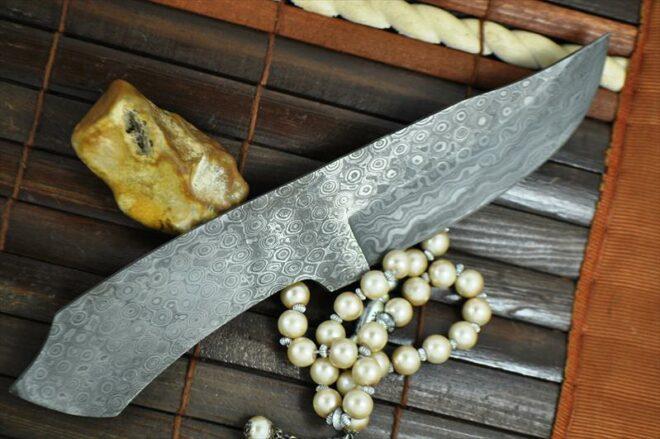 Handmade Damascus Blank Blade - 8.5 inches - 9402