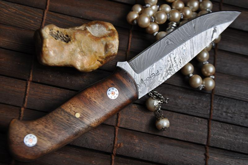 Handmade Damascus Bushcraft Knife An Art Wbc 110