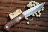 HANDMADE DAMASCUS BUSHCRAFT KNIFE -AN ART- WBC-110