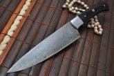 Handmade Damascus Chopper Knife with Buffalo Horn Handle