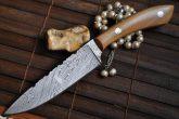 Handmade Damascus Hunting Knife - Chef's Style - WBC-105