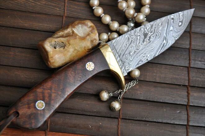 Beautiful Full Tang Handmade Damascus Camping Knife