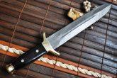 Handmade Damascus Double Edge Mini Sword