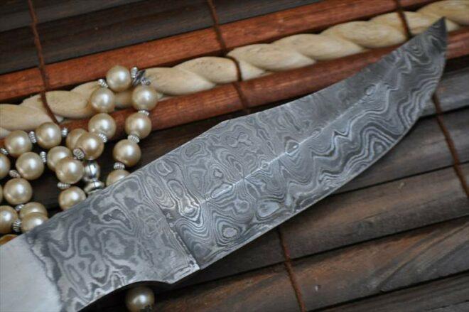 11 Inch Handmade Damascus Steel Blank Blade - 9406