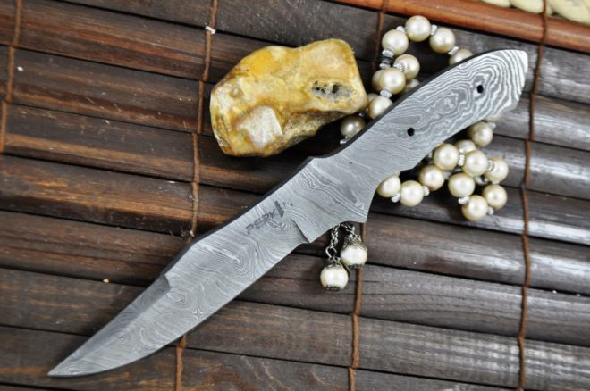 Handmade Damascus Steel Blank Blade - BL5