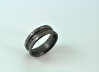 HANDMADE DAMASCUS STEEL RING OUTSTANDING VALUE - R3