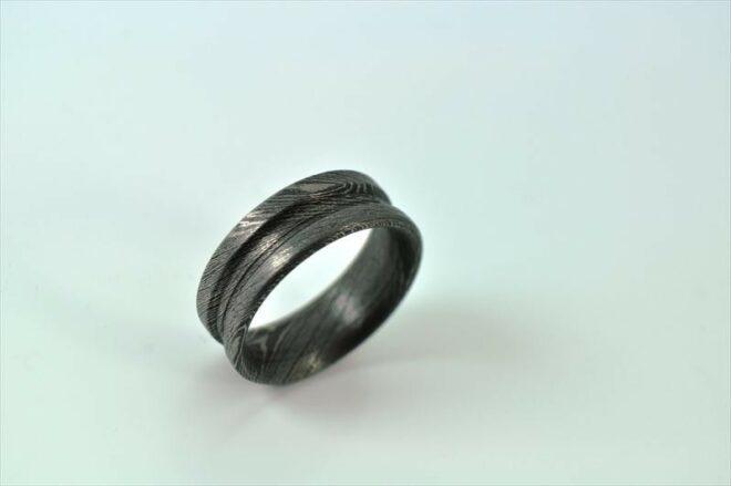 Handmade Damascus Steel Ring - Outstanding Value