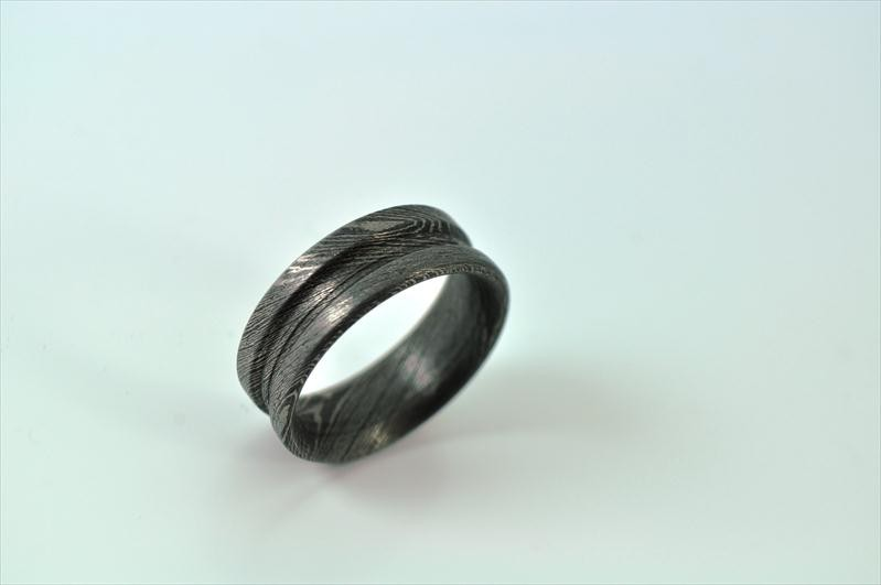 HANDMADE DAMASCUS STEEL RING OUTSTANDING VALUE R3 Perkin