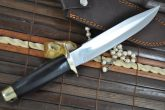 Handmade Hunting Bowie Knife With 440c Steel & Buffalo Horn