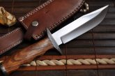 HANDMADE HUNTING KNIFE 440C STEEL DAMASCUS GUARD