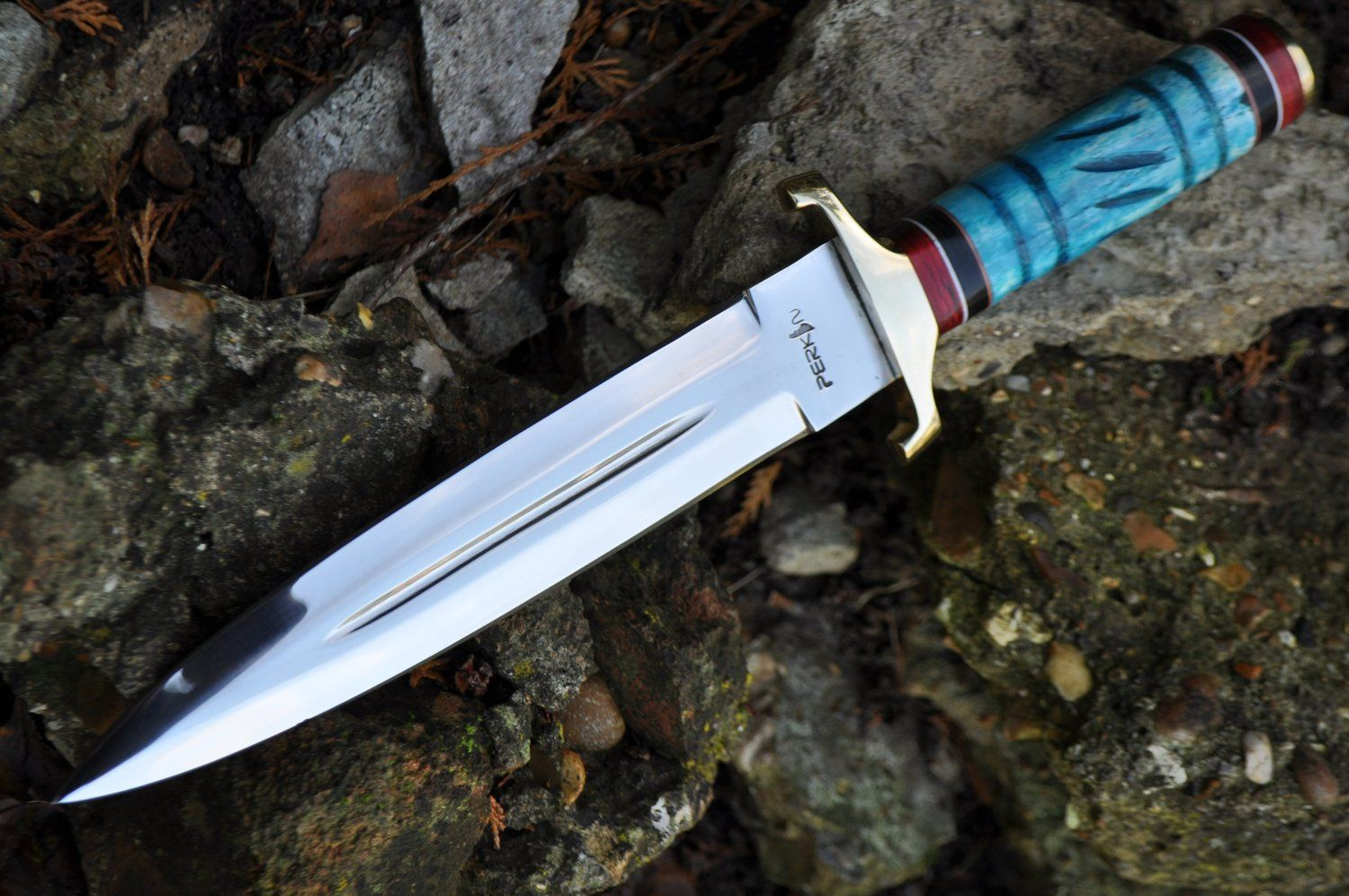 Double Edge Handmade Hunting Knife With 440c Blade
