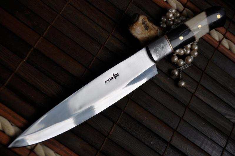 handmade knife forged o1 tool steel kitchen knife