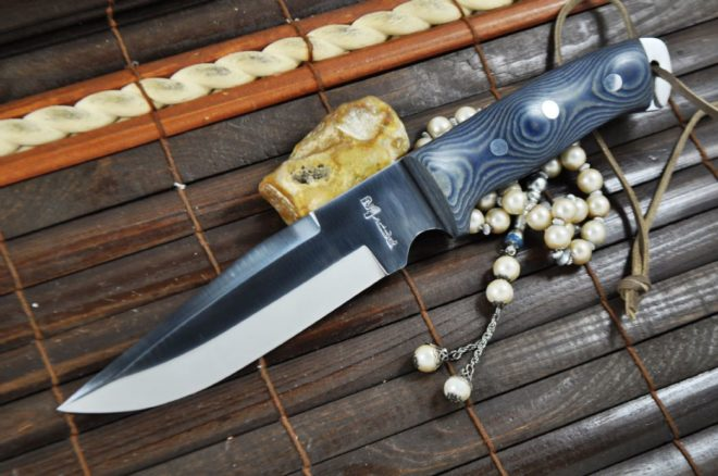 Handmade Hunting Knife with Micarta Handle