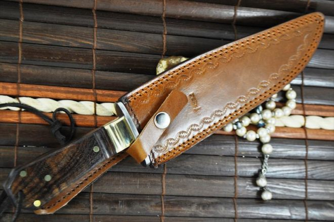 Handmade Hunting Knife with 440C Steel & Walnut Wood