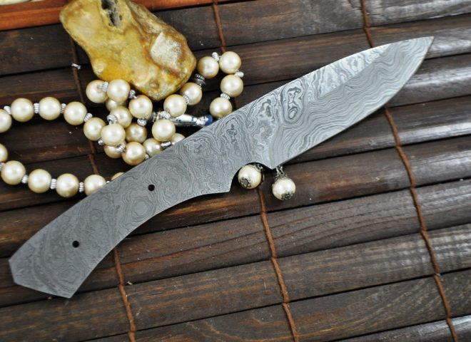 Damascus Blank Blade - BL10
