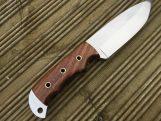 Handmade Bushcraft Knife with Leather Sheath - MCA