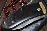 Handmade Folding Knife with Buffalo Horn Handle