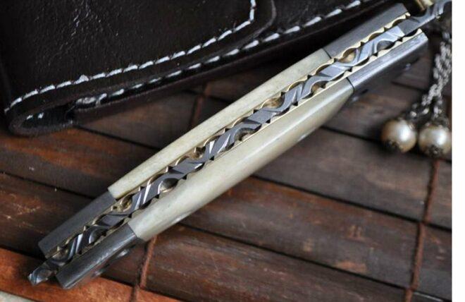 Handmade Damascus Folding Knife - Work of Art