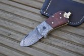 Handcrafted Damascus Pocket Knife - Legal to Carry