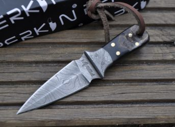 Handmade Knife - Damascus Steel Hunting Knife - Neck Knife