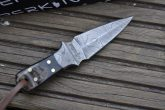 Handmade Knife - Damascus Steel Hunting Knife - Neck Knife