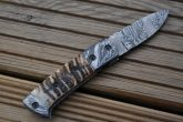 Handmade Damascus Pocket Knife - Folding Knife with Lock