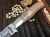 Custom Handmade Damascus Hunting Knife