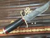 Fixed Blade Hunting Knife With Sheath Damascus Steel Boker Knife