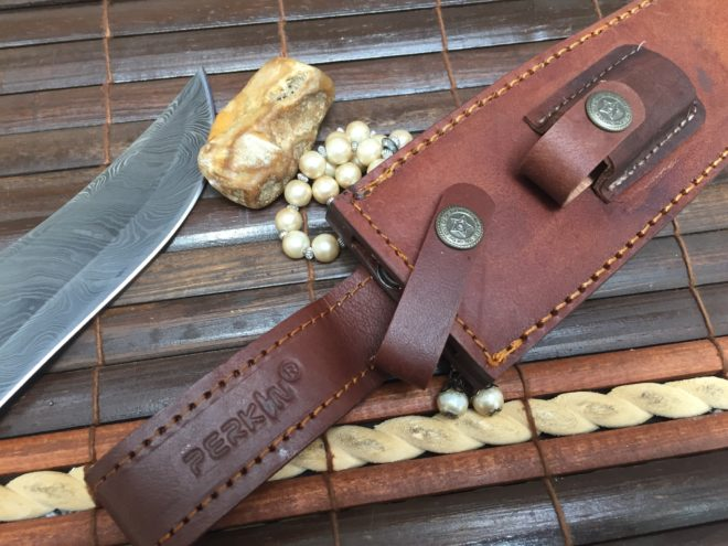Fixed Blade Hunting Knife With Sheath Damascus Steel Bowie Knife
