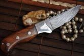 Handmade Damascus Hunting Knife - Beautiful Camping Knife - Full Tang