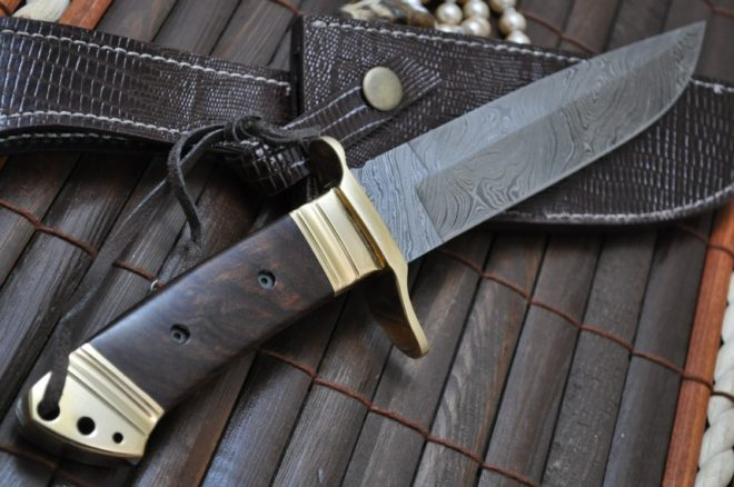 Fixed Blade hunting knife with Sheath Bowie knife