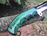 Full Tang tracker Knife with D2 Steel blade and Micarta Handle