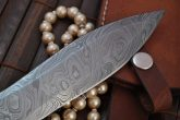 Damascus Steel Dagger Knife With Double Edge Blade