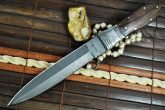 Fixed blade hunting knife damascus steel and handmade
