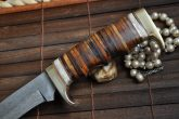 Handmade Damascus Hunting Knife - Mini Sword