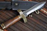 Handmade damascus steel beautiful hunting, work of art