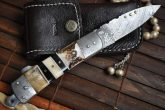 Damascus Steel Folding Pocket Knife With Lock