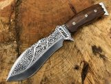 Handmade Hunting Knife with Leather Sheath