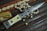 Handmade Damascus Hunting Knife - Beautiful Folding Knife